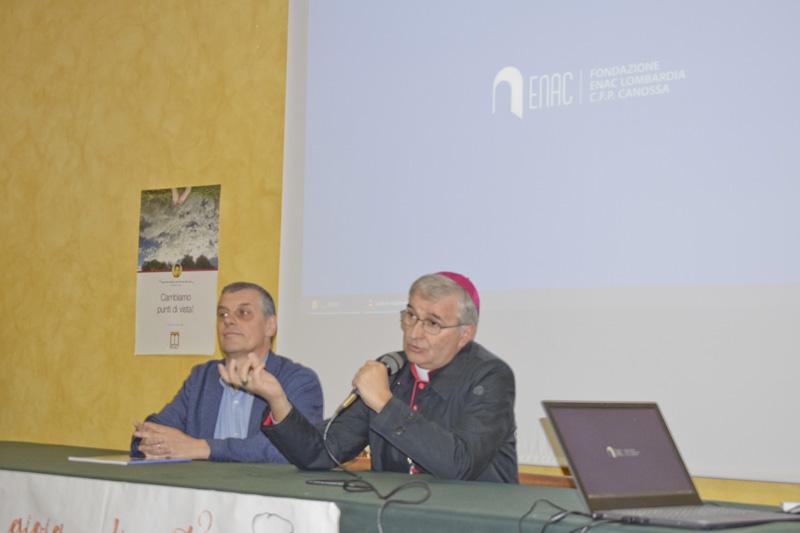 Visita Vescovo Tremolada al CFP Canossa Brescia